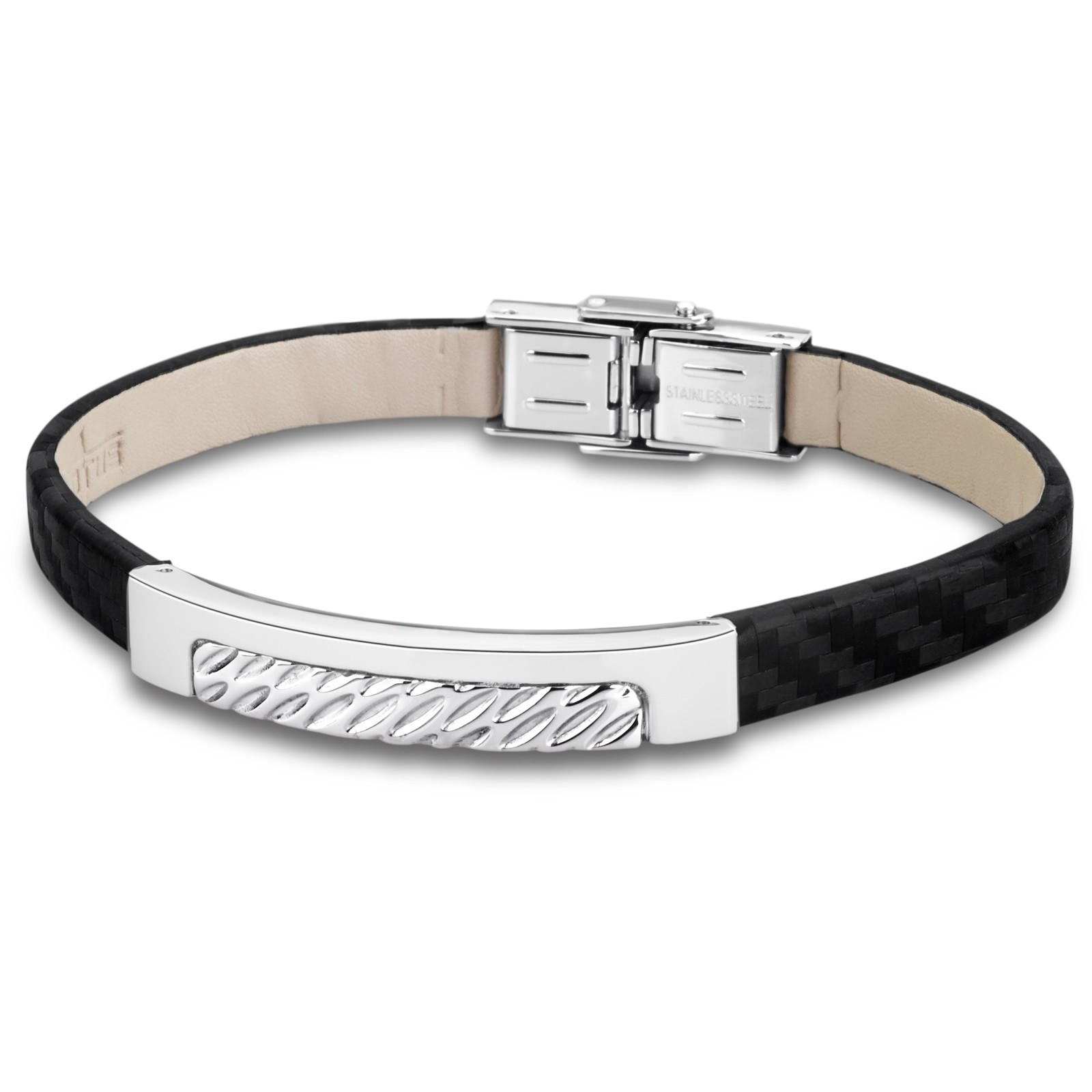 LOTUS Style Herren Armband Men in Black-Kollektion Edelstahl JLS1654-2-1