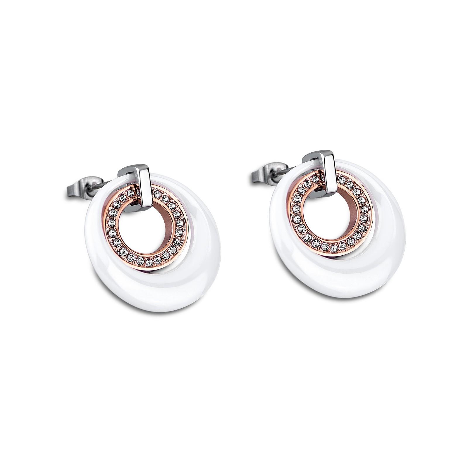 LOTUS Style Damen Ohrhänger Ceramic-Kollektion Edelstahl Keramik JLS1704-4-2