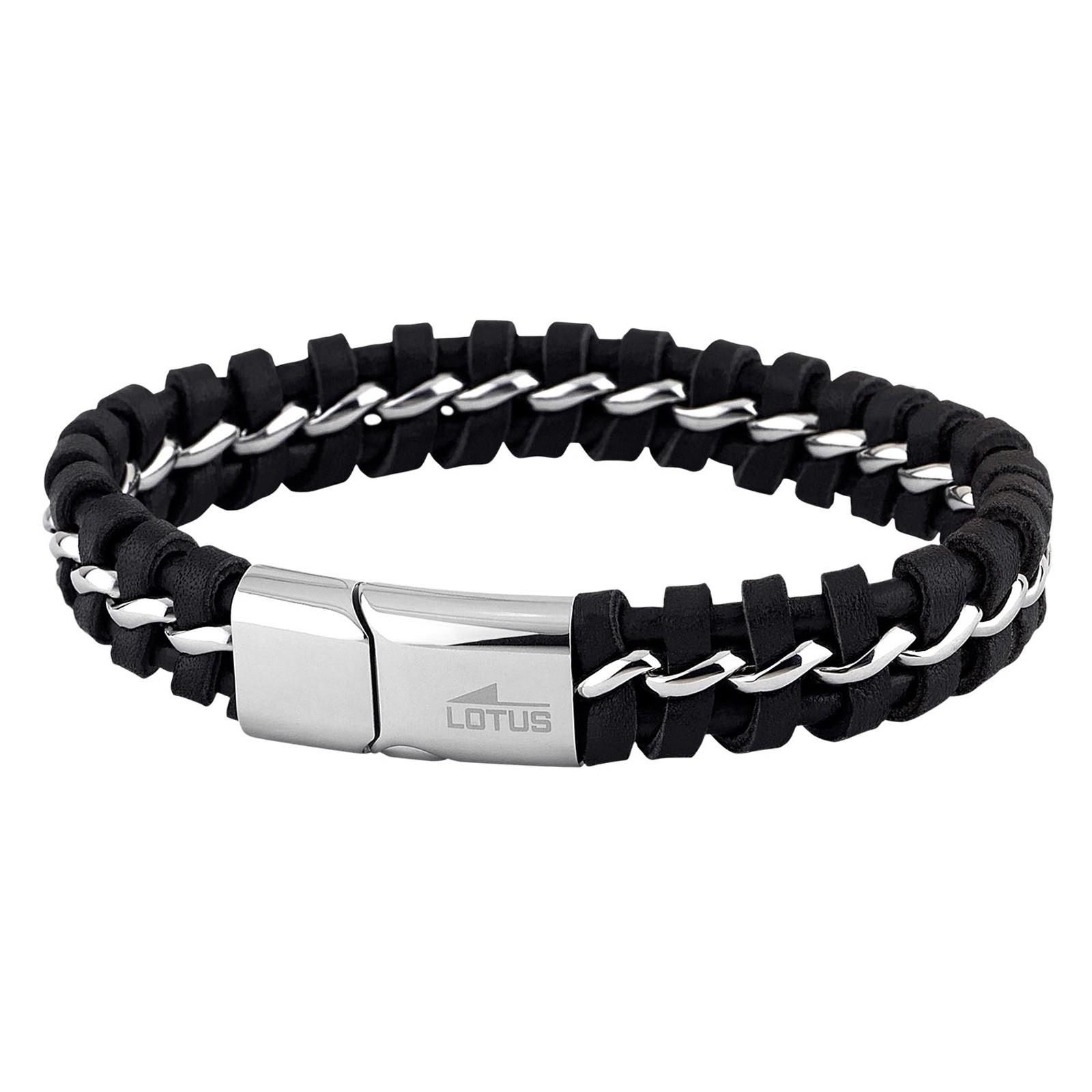 LOTUS Style Herren Armband Men in Black Edelstahl-Schmuck JLS1740-2-2