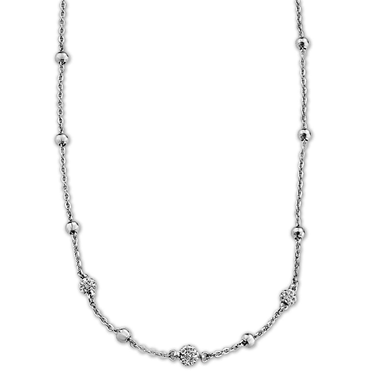 LOTUS Style Halskette Damen Edelstahl LS1763-1/1 Kugeln Schmuck JLS1763-1-1