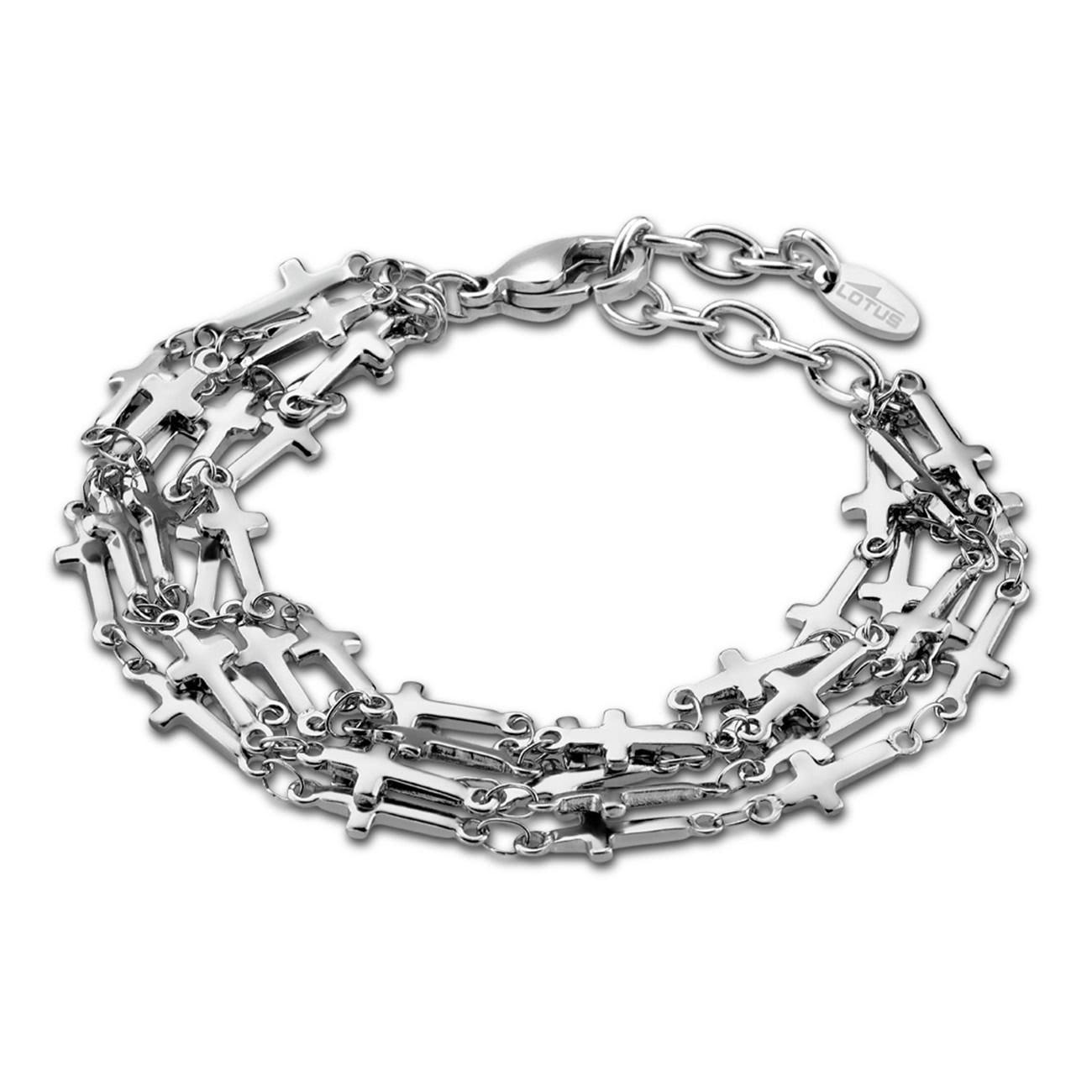 LOTUS Style Armband Damen Multilayer Kreuz LS1766-2/1 Edelstahl JLS1766-2-1