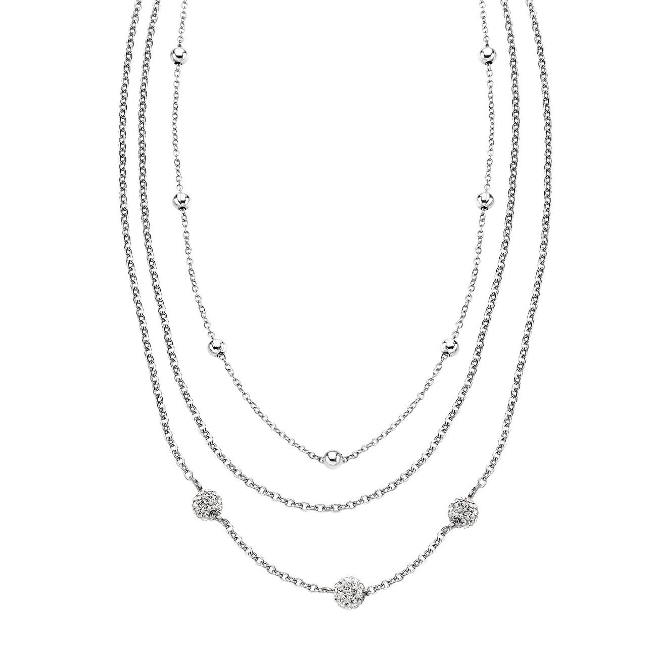LOTUS Style Halskette Damen Edelstahl LS1776-1/1 Multilayer JLS1776-1-1