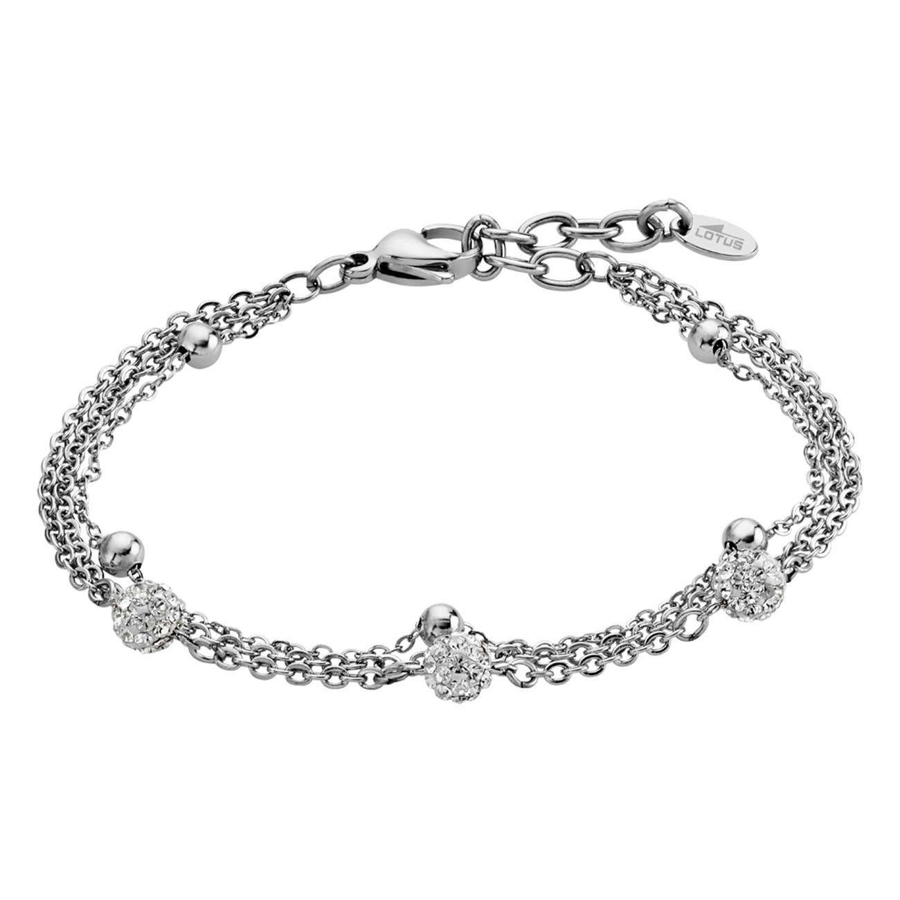 LOTUS Style Armband Damen Edelstahl silber LS1776-2/1 Multilayer JLS1776-2-1