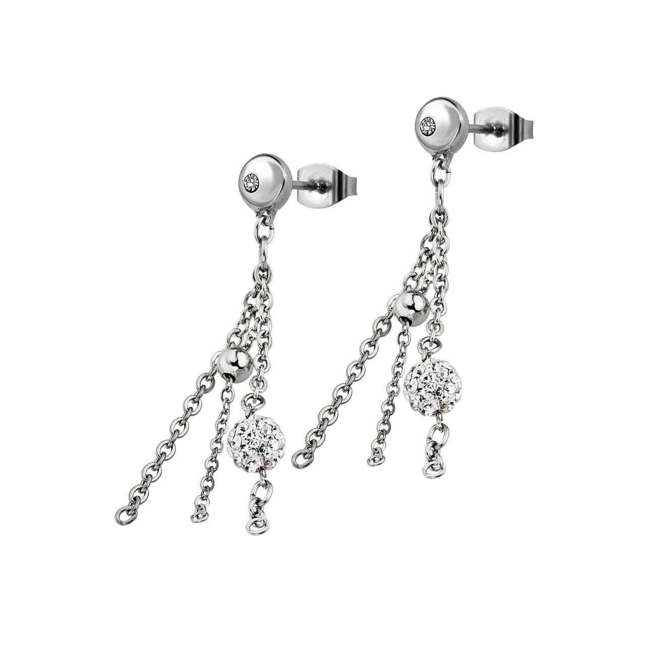 LOTUS Style Ohrringe Damen Edelstahl silber LS1776-4/1 Ohrstecker JLS1776-4-1