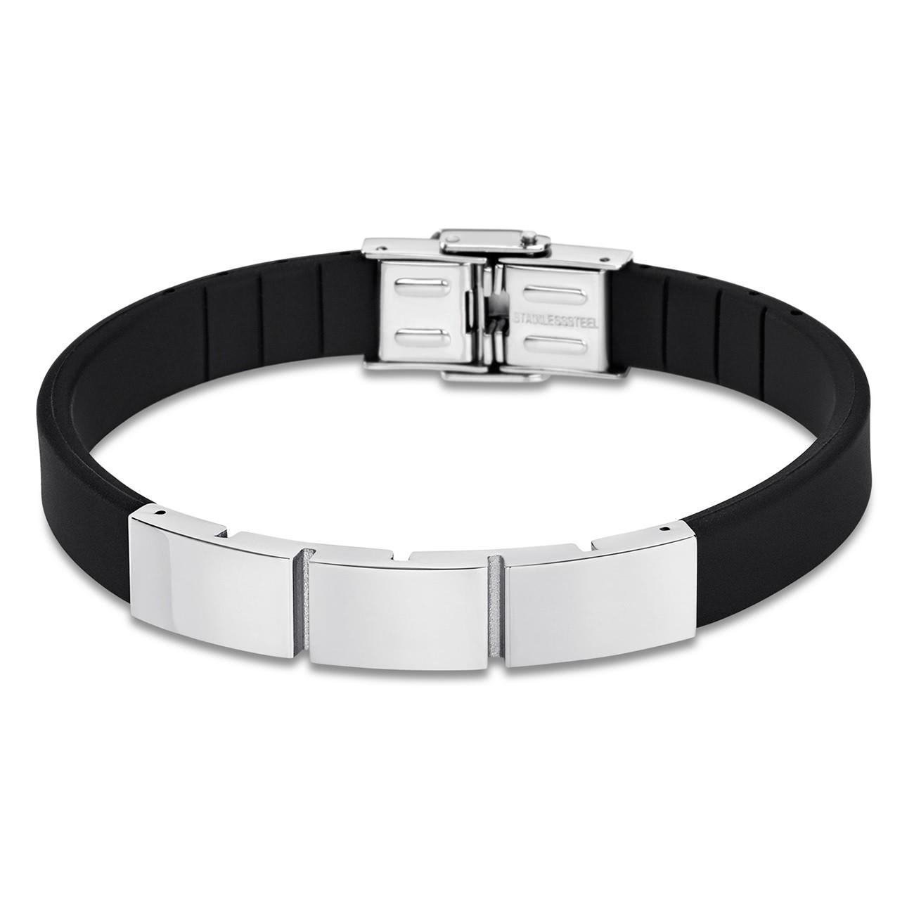 LOTUS Style Armband Herren LS1796-2/1 Edelstahl schwarz silber JLS1796-2-1