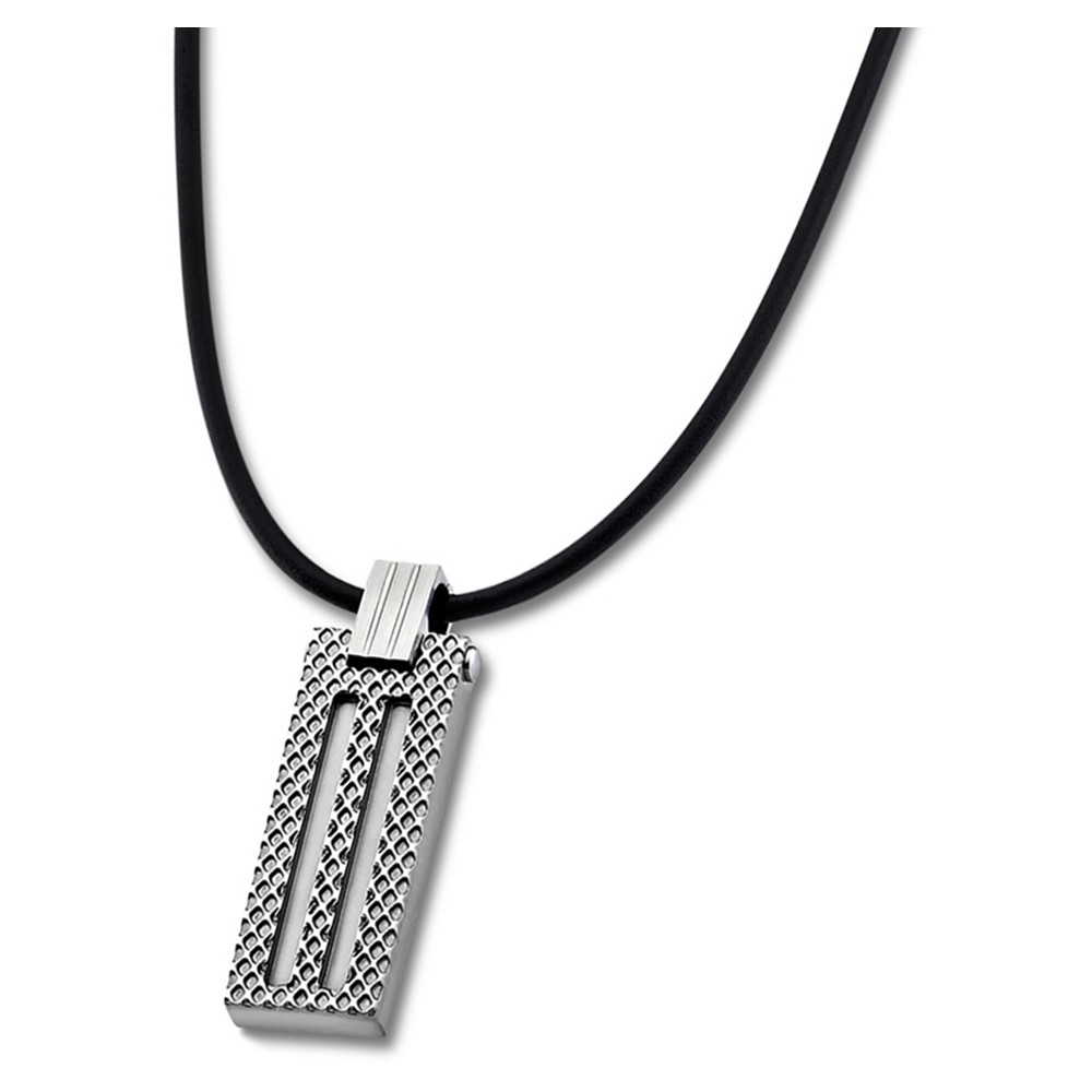 LOTUS Style Halskette Herren LS1797-1/1 Edelstahl silber schwarz JLS1797-1-1