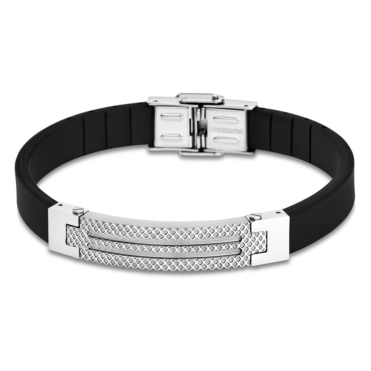 LOTUS Style Armband Herren LS1797-2/1 Edelstahl schwarz silber JLS1797-2-1