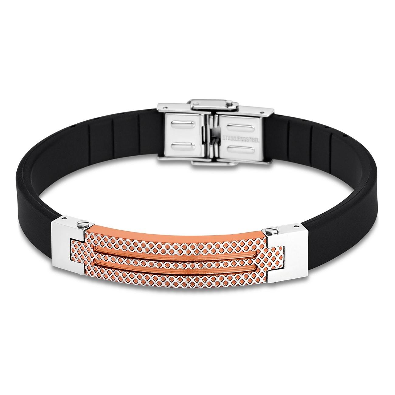 LOTUS Style Armband Herren LS1797-2/3 Edelstahl schwarz roségold JLS1797-2-3