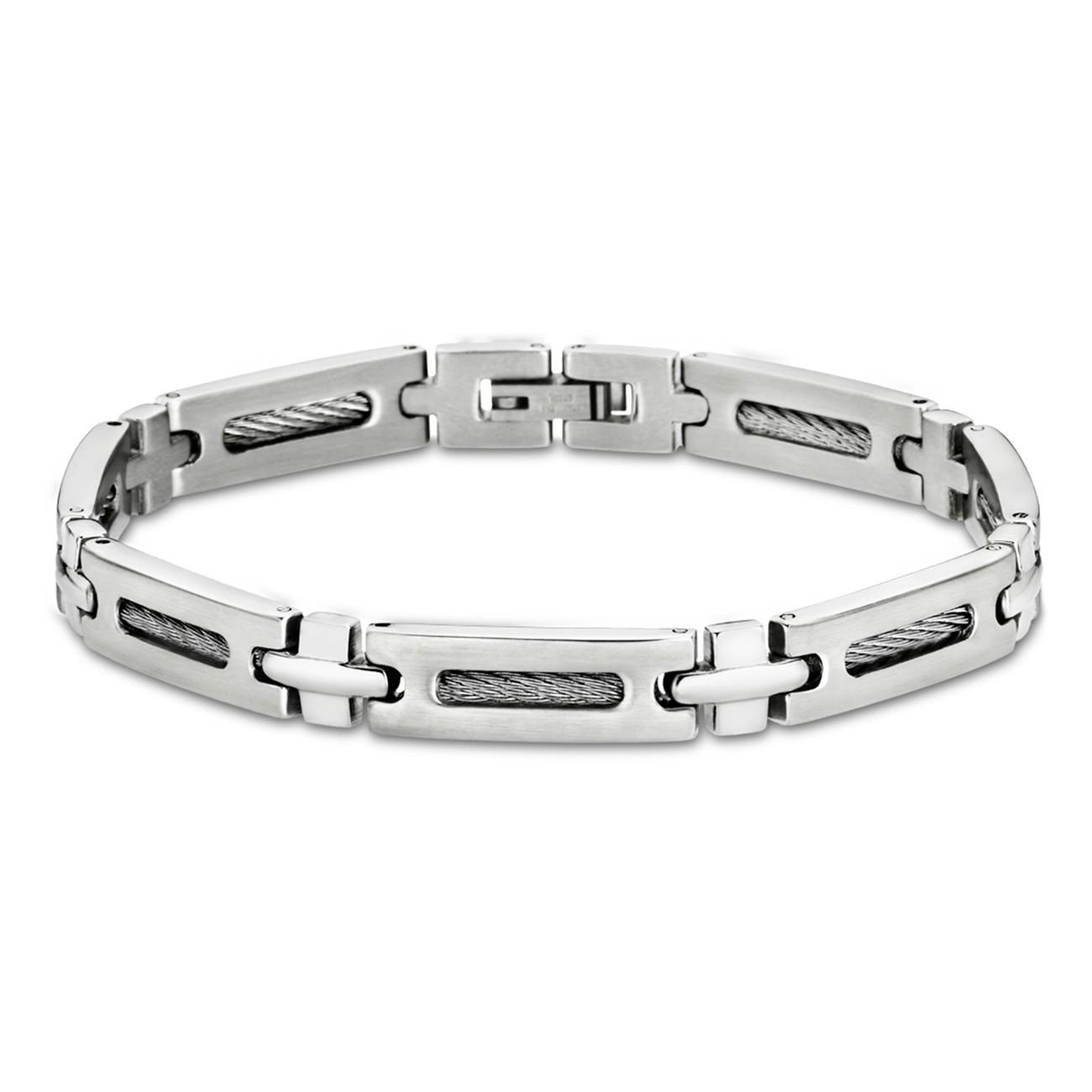 LOTUS Style Armband Herren Edelstahl silber LS1802-2/1 Schmuck JLS1802-2-1