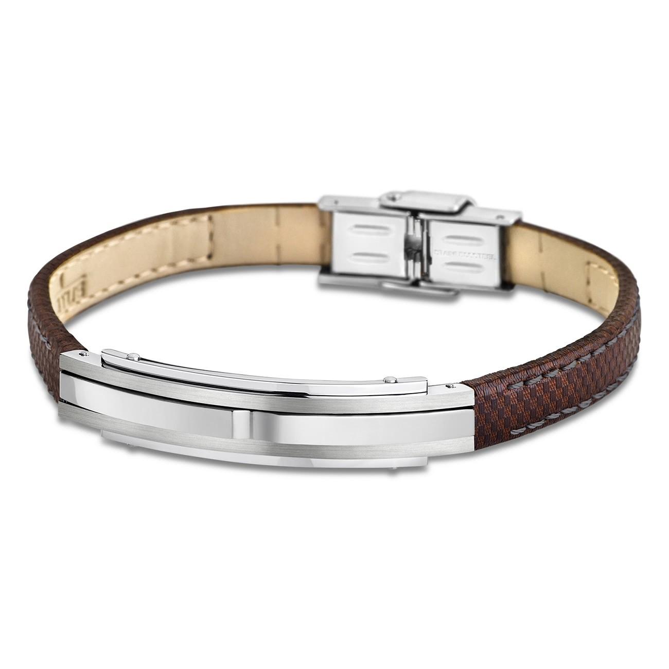 LOTUS Style Armband Herren Leder silber braun LS1809-2/1 Urban JLS1809-2-1