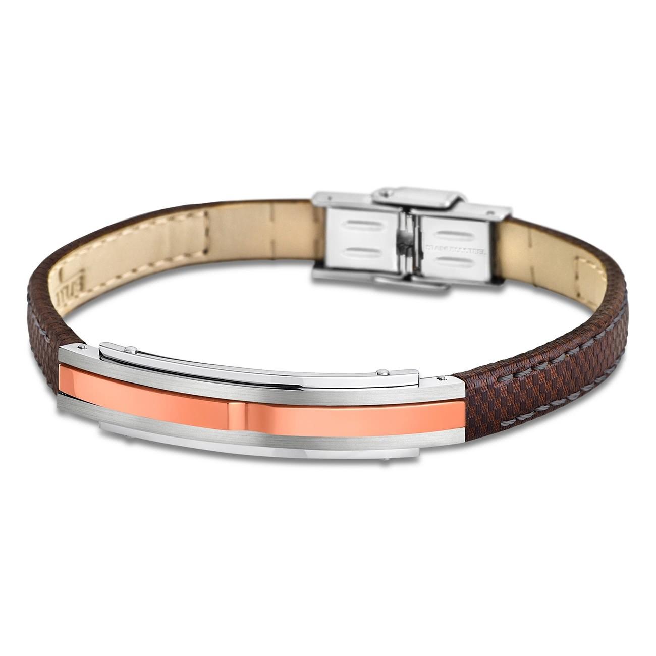 LOTUS Style Armband Herren Leder silber braun LS1809-2/3 Urban JLS1809-2-3