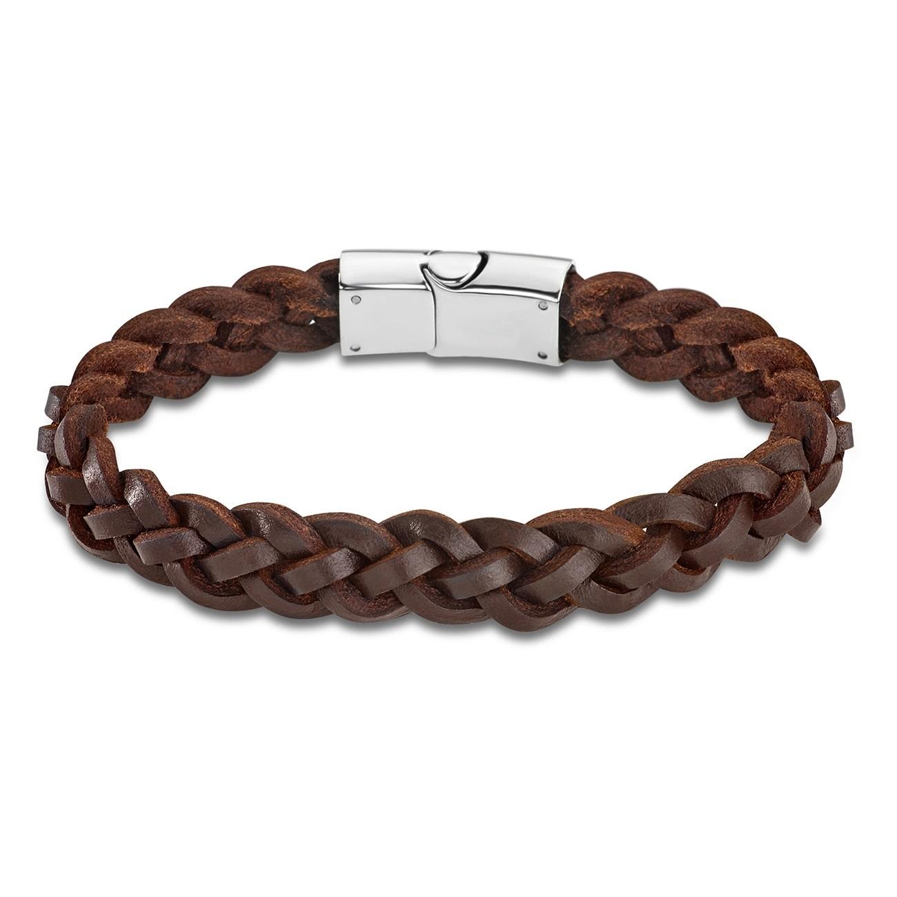 LOTUS Style Armband Herren LS1811-2/1 Leder silber braun JLS1811-2-1