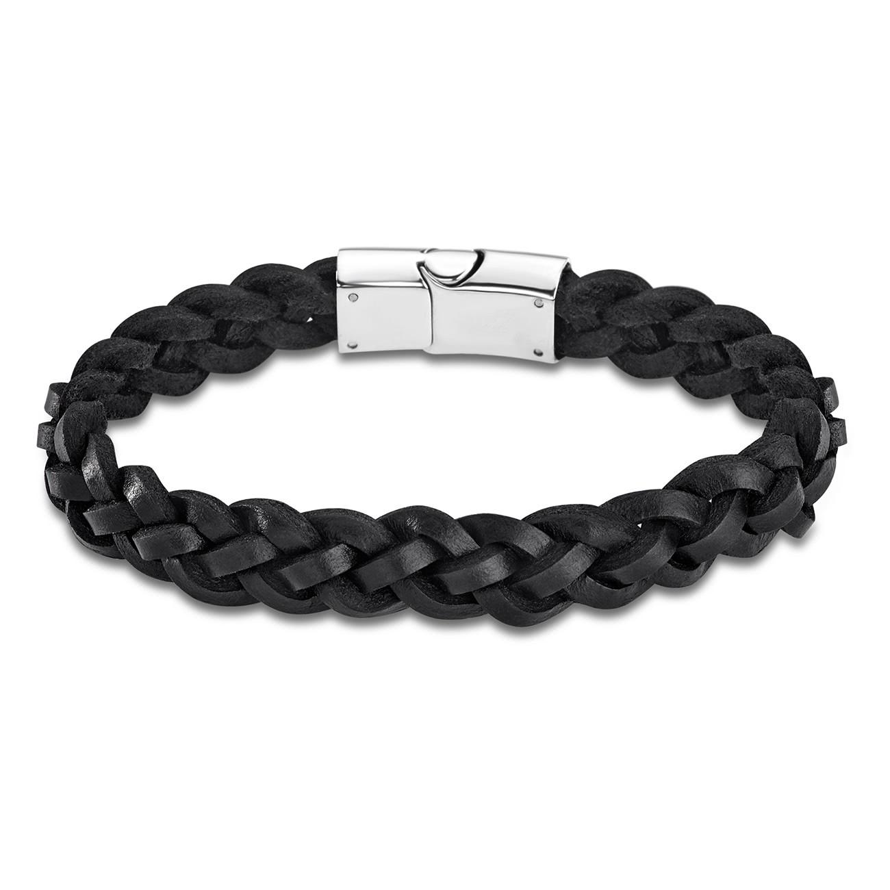 LOTUS Style Armband Herren LS1811-2/2 Leder silber schwarz JLS1811-2-2