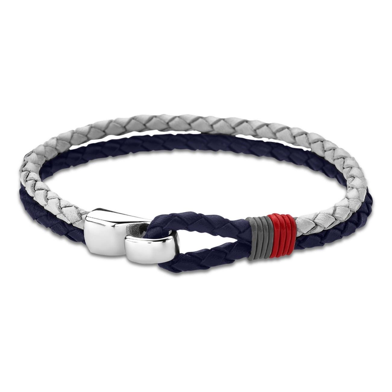 LOTUS Style Armband Herren Leder grau blau LS1813-2/2 Men Basic JLS1813-2-2