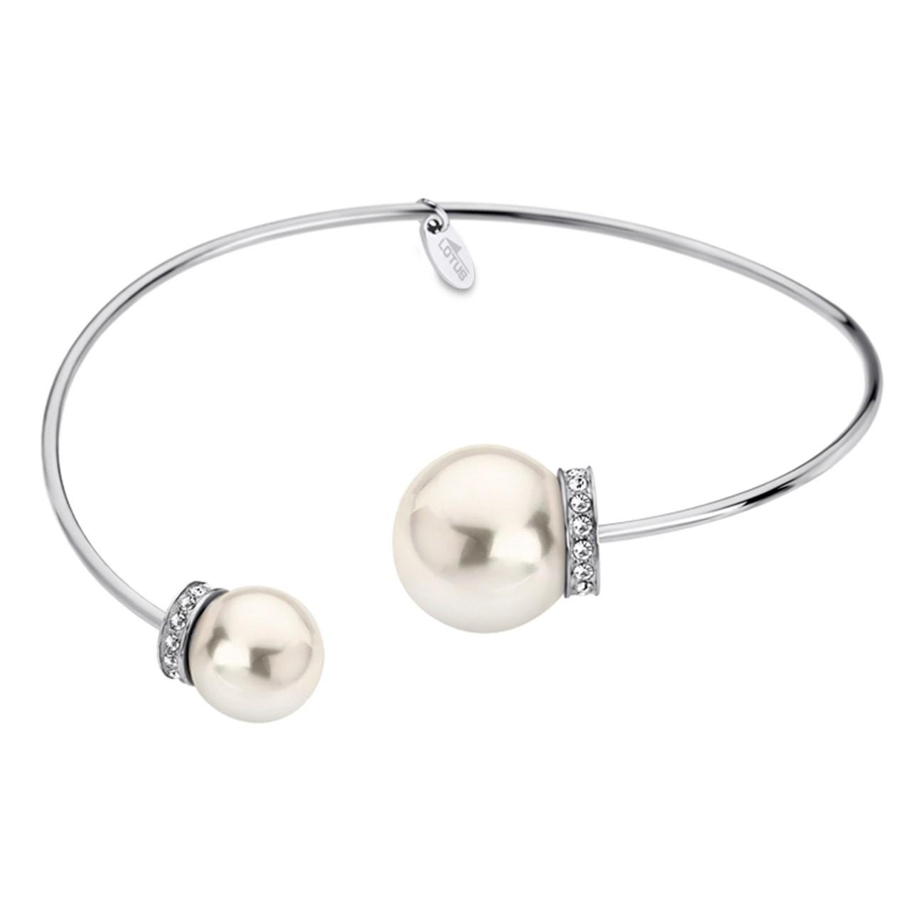 LOTUS Style Armband Damen Armreif Perle LS1824-2/1 Edelstahl JLS1824-2-1