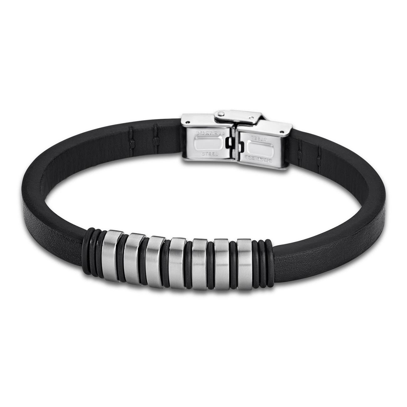 LOTUS Style Armband Damen Herren LS1827-2/1 Leder schwarz JLS1827-2-1
