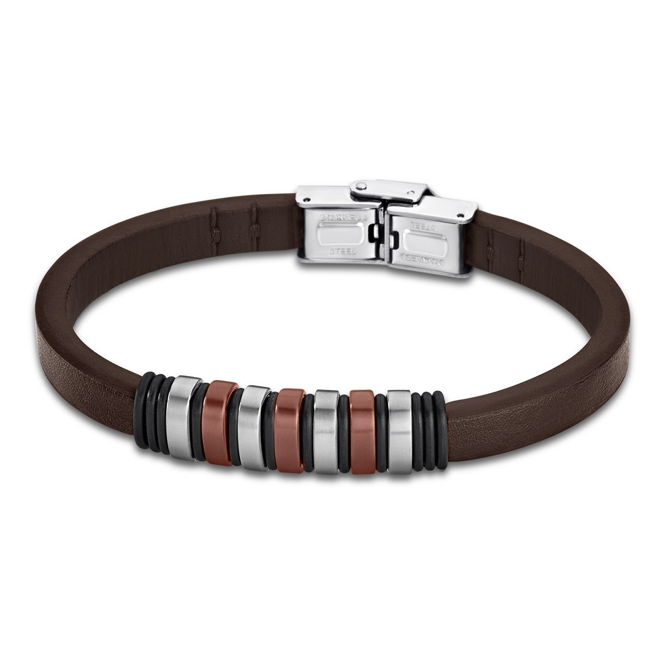 LOTUS Style Armband Damen Herren LS1827-2/3 Leder braun JLS1827-2-3