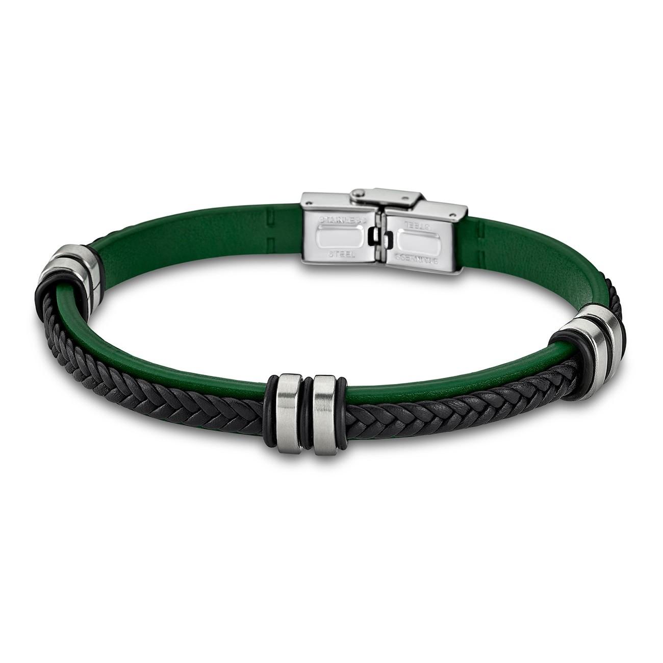 LOTUS Style Armband Damen Herren LS1829-2/2 Leder grün schwarz JLS1829-2-2