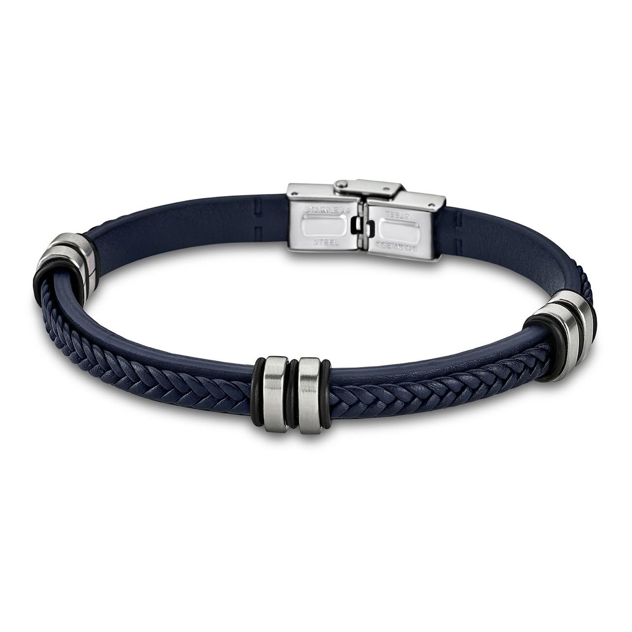 LOTUS Style Armband Damen Herren LS1829-2/5 Leder blau JLS1829-2-5