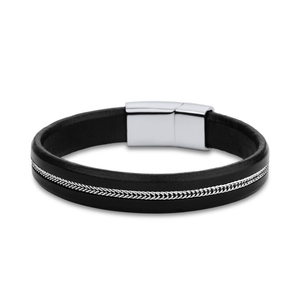 LOTUS Style Armband Herren Leder schwarz LS1830-2/2 Edelstahl JLS1830-2-2