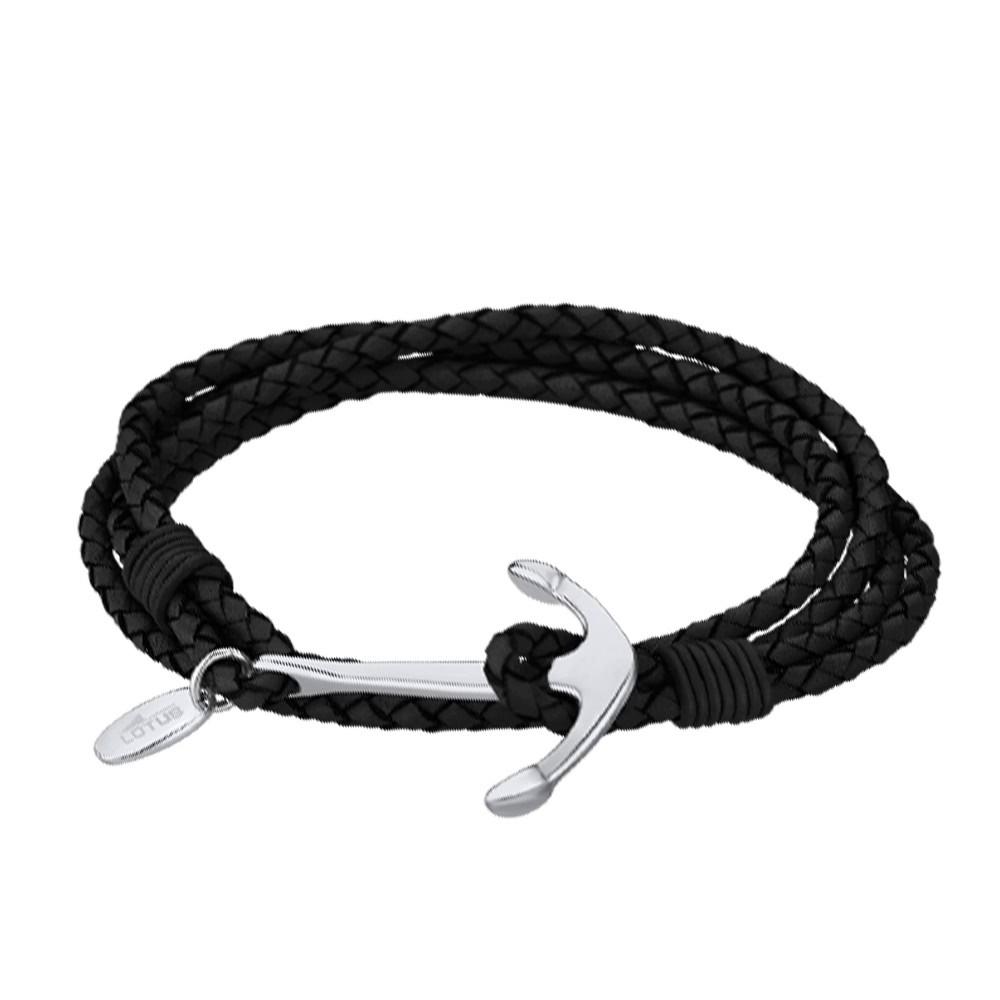 lotus style armband anker herren ls1831 2 1 leder schwarz urban jls1831 2 1. Black Bedroom Furniture Sets. Home Design Ideas