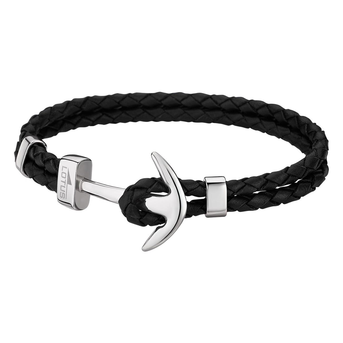 LOTUS Style Armband Herren Leder schwarz LS1832-2/1 Anker Schmuck JLS1832-2-1