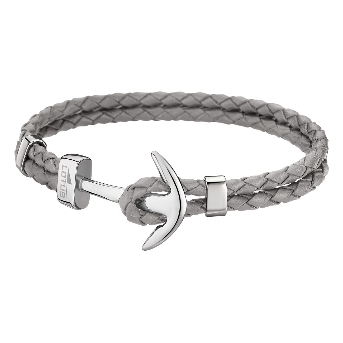 LOTUS Style Armband Herren Leder grau LS1832-2/3 Anker Schmuck JLS1832-2-3