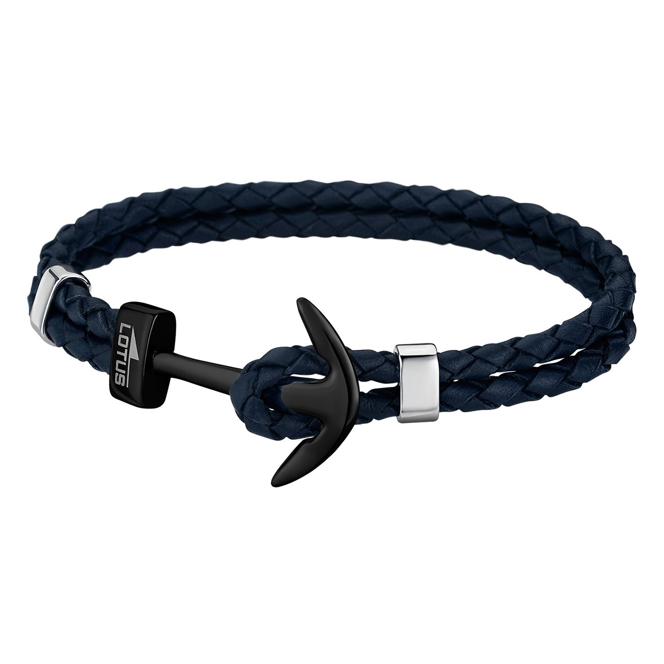 LOTUS Style Armband Herren Leder blau LS1832-2/7 Anker Schmuck JLS1832-2-7