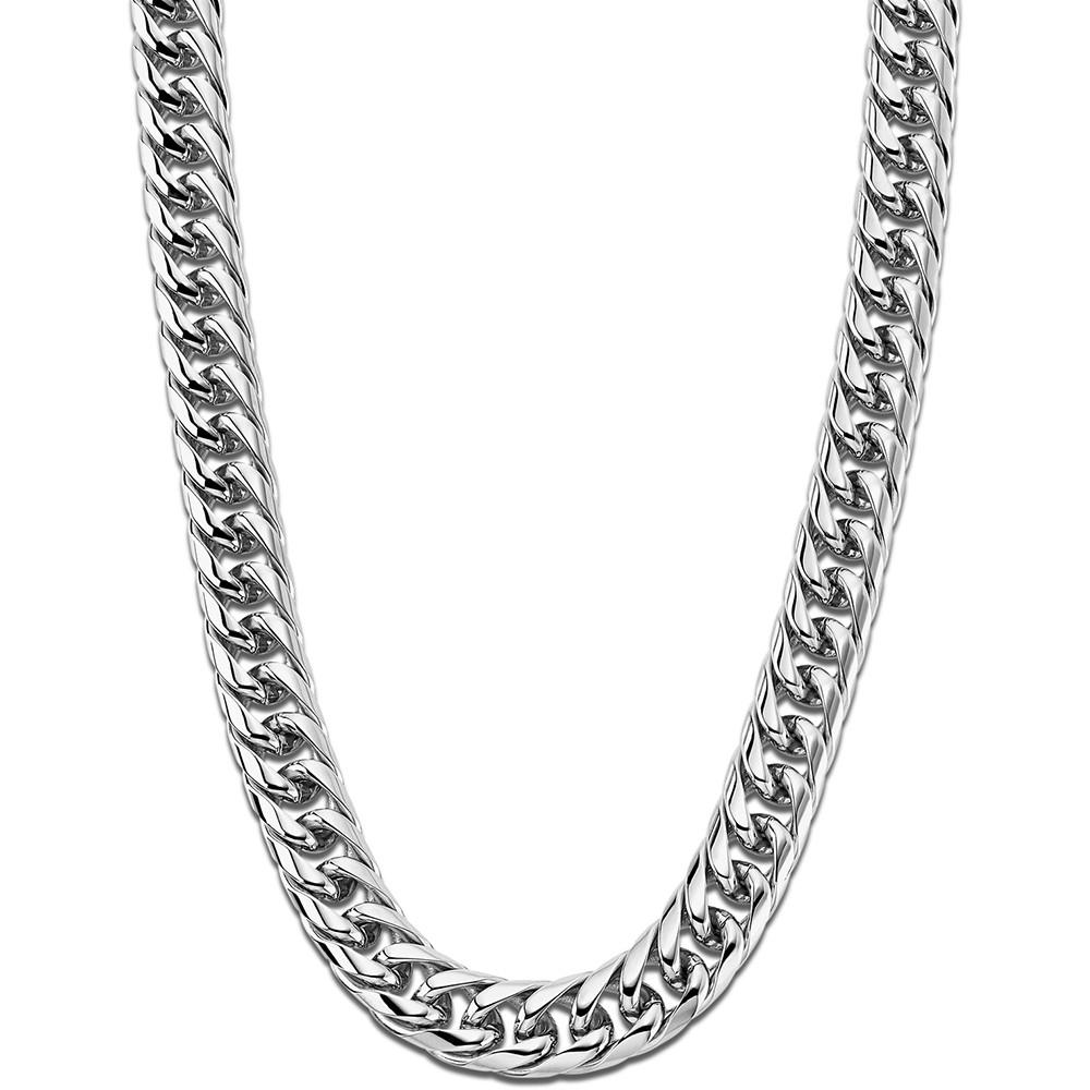 LOTUS Style Halskette LS1937-1/1 Herren Edelstahl silber Men Black JLS1937-1-1
