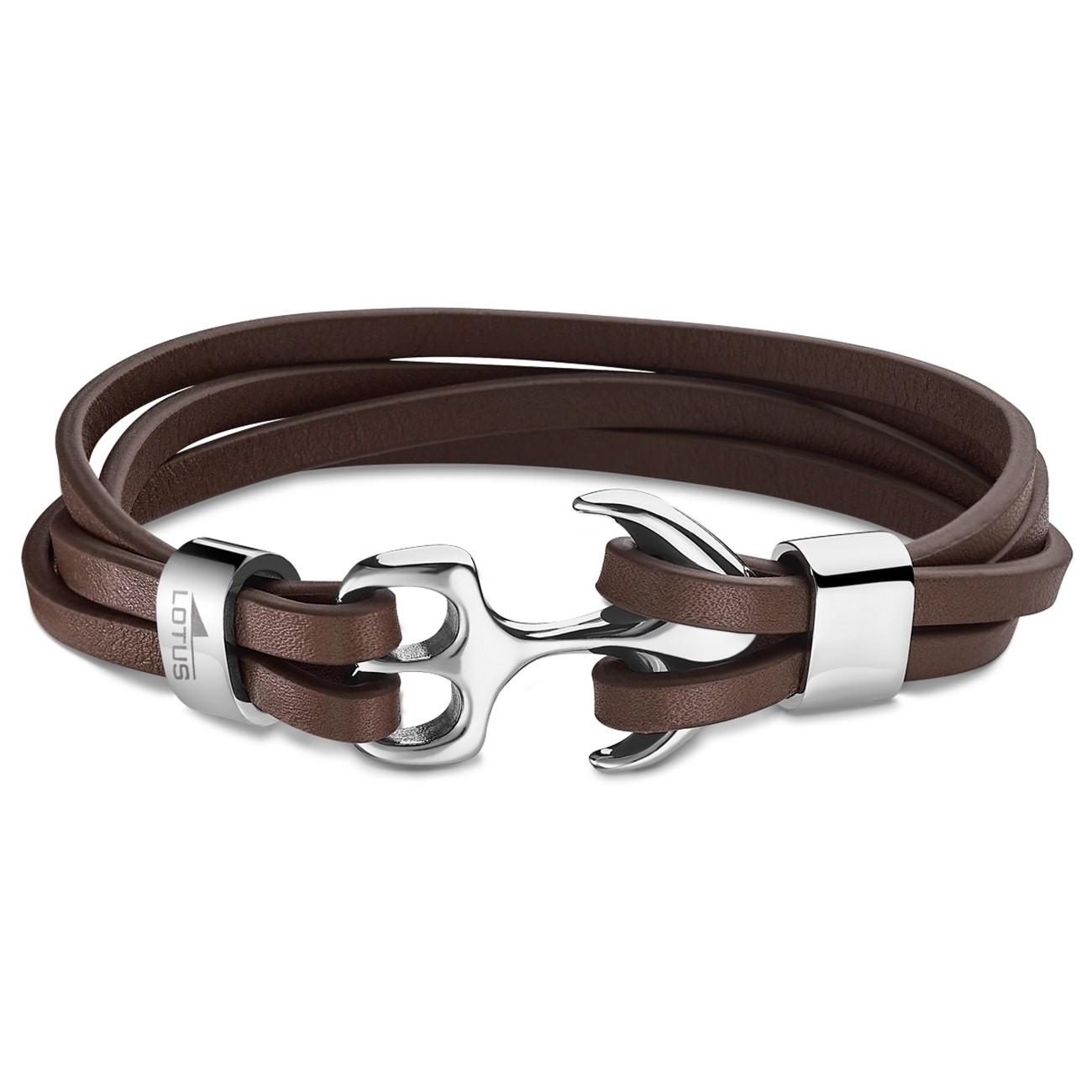LOTUS Style Armband Riemen LS1974-2/2 Herren Leder braun Urban JLS1974-2-2