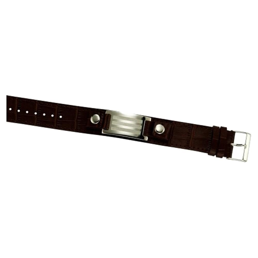 KISMA Schmuck Armband Edelstahl Stahlarmband braun KIA0130-014-19
