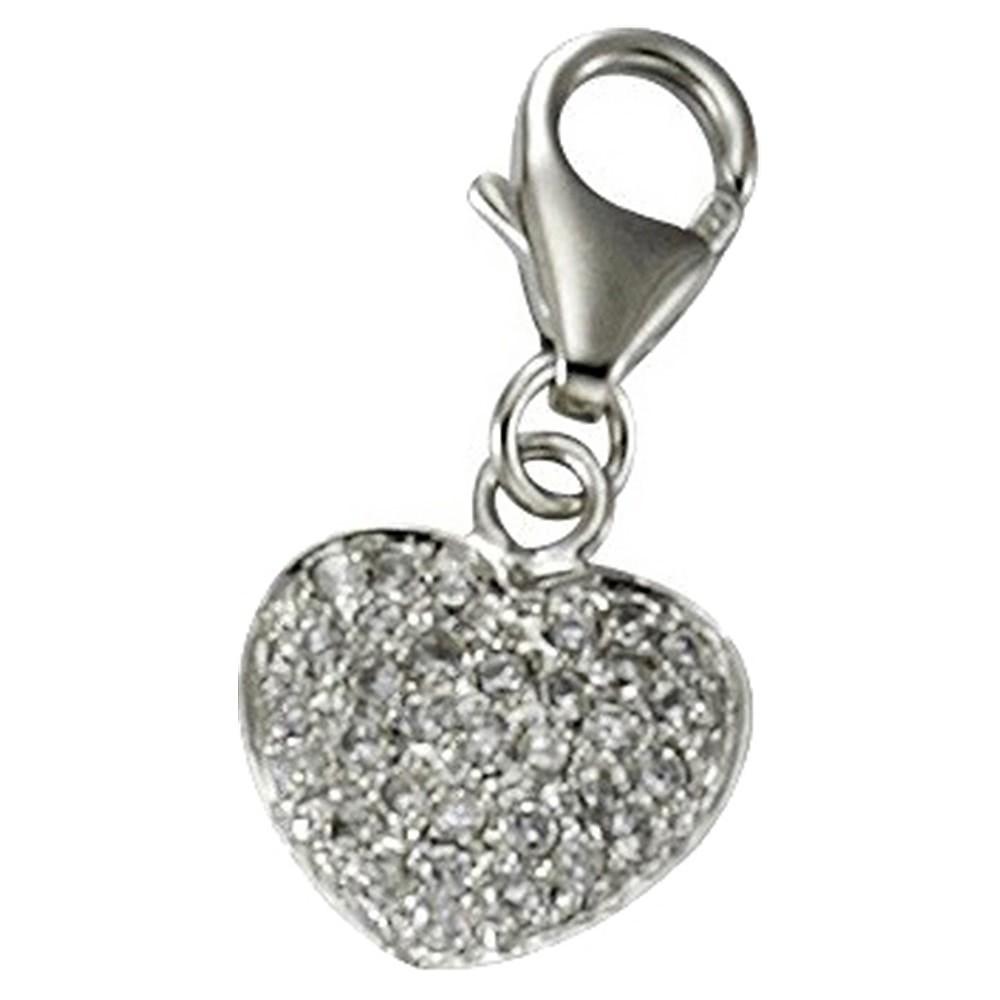 KISMA Schmuck Charms Anhänger Herz Silber 925 Charm KIC0118-023