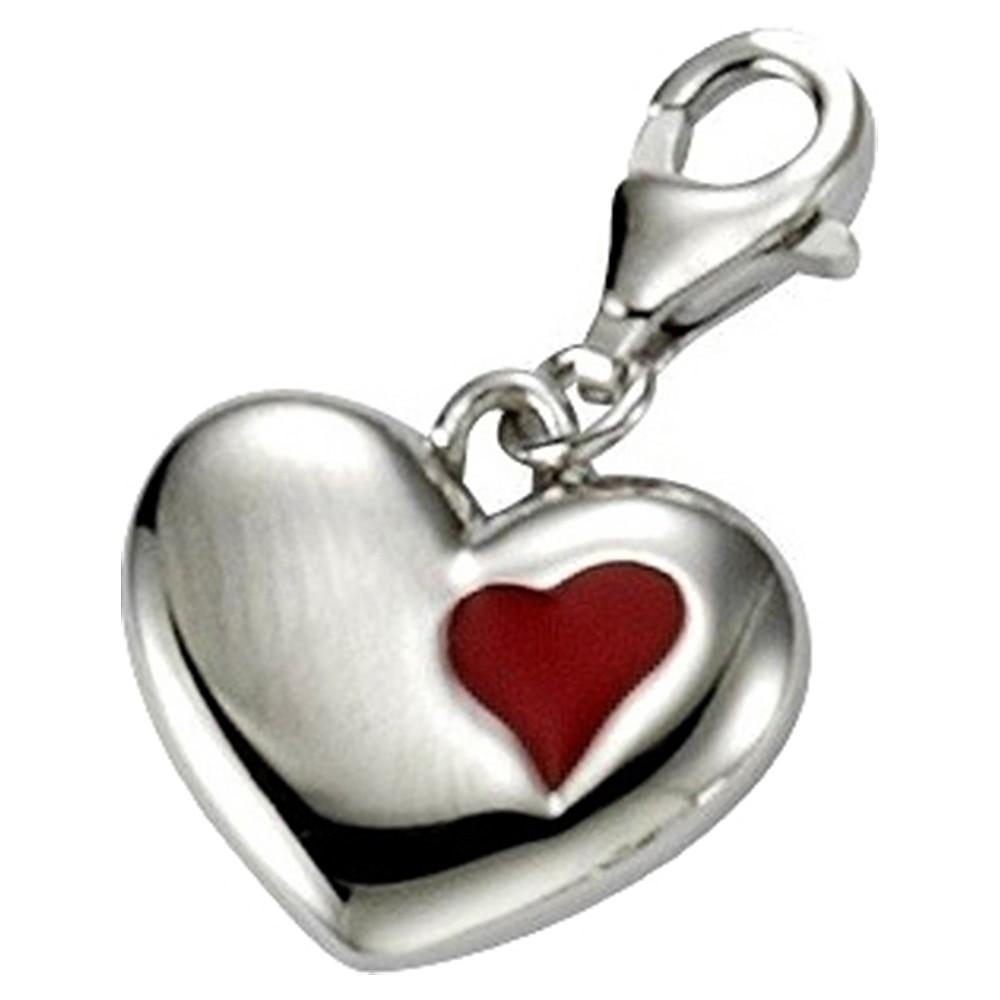 KISMA Schmuck Charms Anhänger Herz Silber 925 Charm KIC0118-026