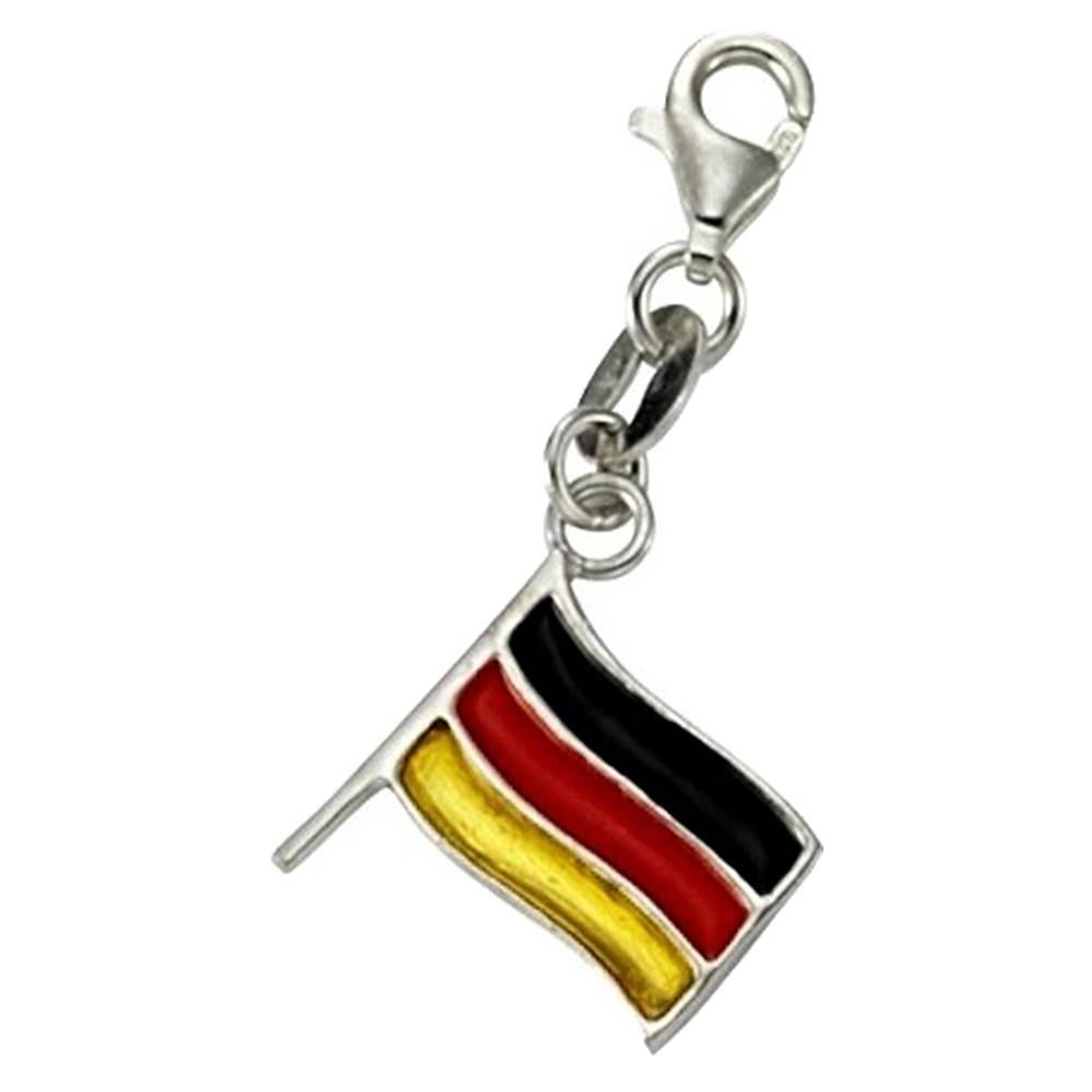 KISMA Schmuck Charms Anhänger Flagge Silber 925 Charm KIC0118-031