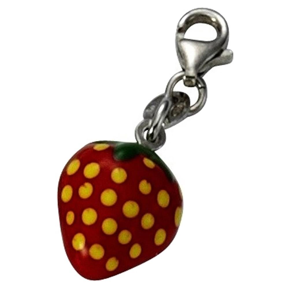 KISMA Schmuck Charms Anhänger Erdbeere Silber 925 Charm KIC0119-006