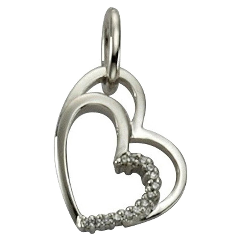 KISMA Schmuck Anhänger Herz für Ketten Sterling Silber 925 KIH0105-007