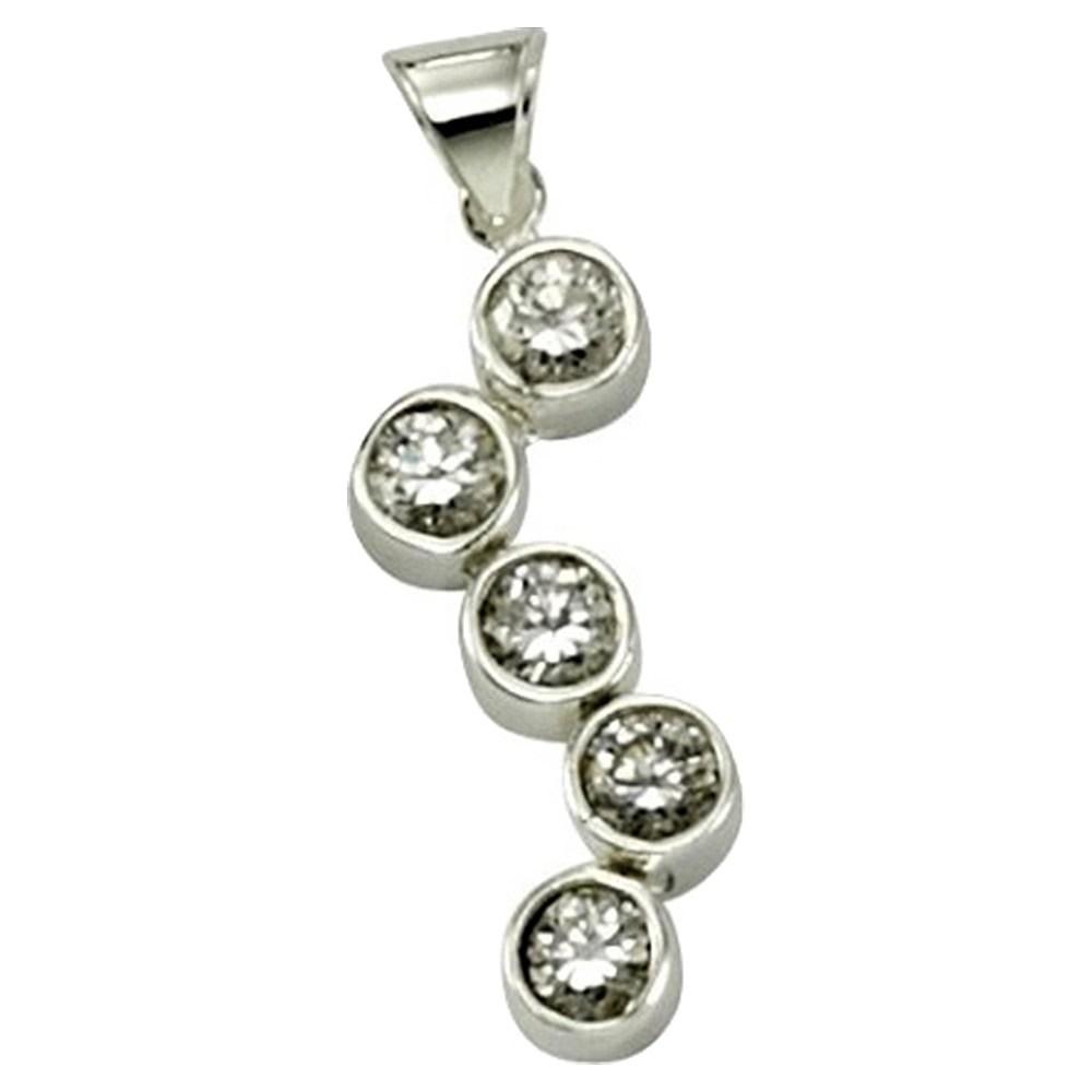 KISMA Schmuck Anhänger für Ketten weiß Sterling Silber 925 KIH0107-020