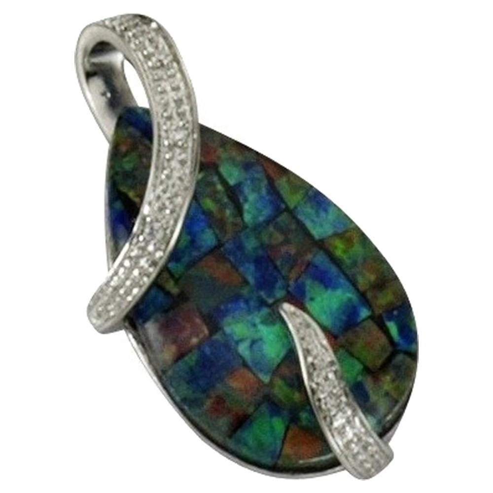 KISMA Schmuck Anhänger für Ketten Opal Sterling Silber 925 KIH0108-003