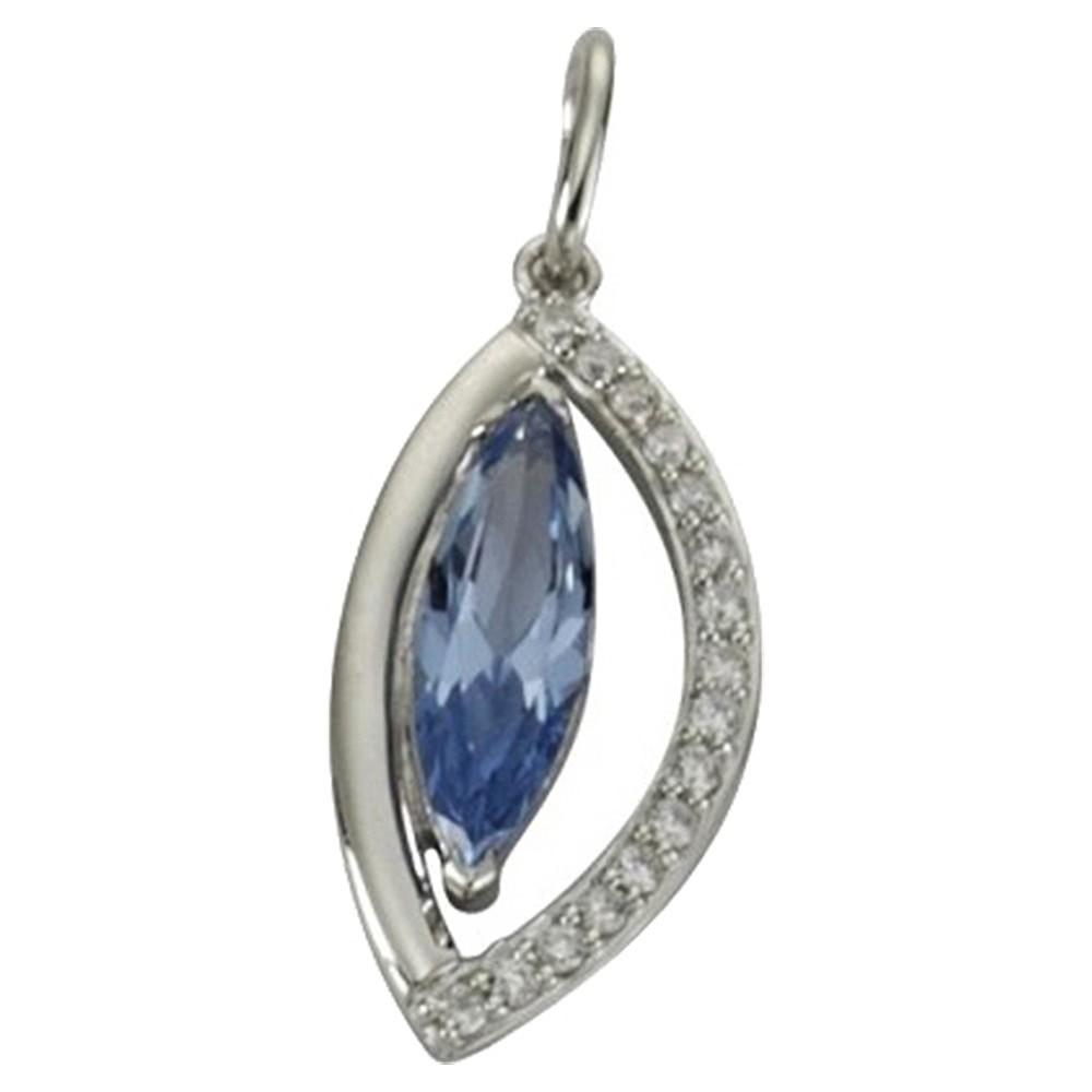 KISMA Schmuck Anhänger für Ketten blau Sterling Silber 925 KIH0108-006