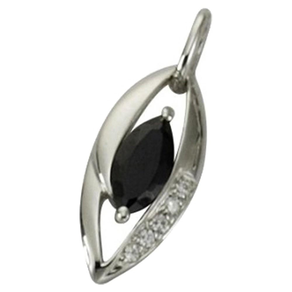 KISMA Schmuck Ketten Anhänger schwarz Sterling Silber 925 KIH0110-004