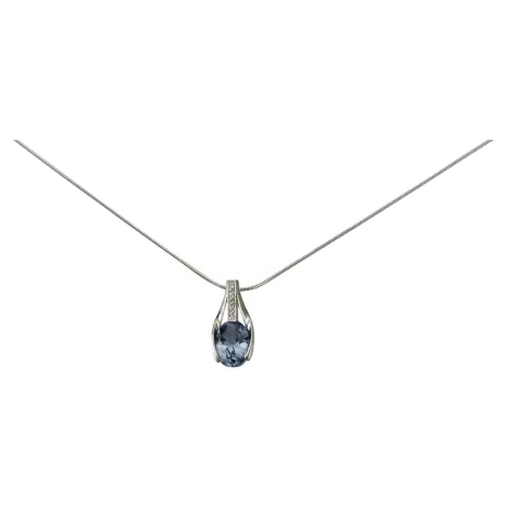 KISMA Schmuck Anhänger für Ketten blau Sterling Silber 925 KIH0110-015