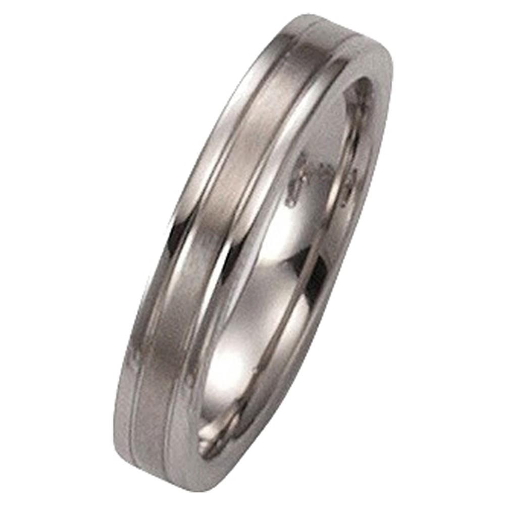KISMA Schmuck Ring Gr. 60 Edelstahl glänzend und matt KIR0127-003-60