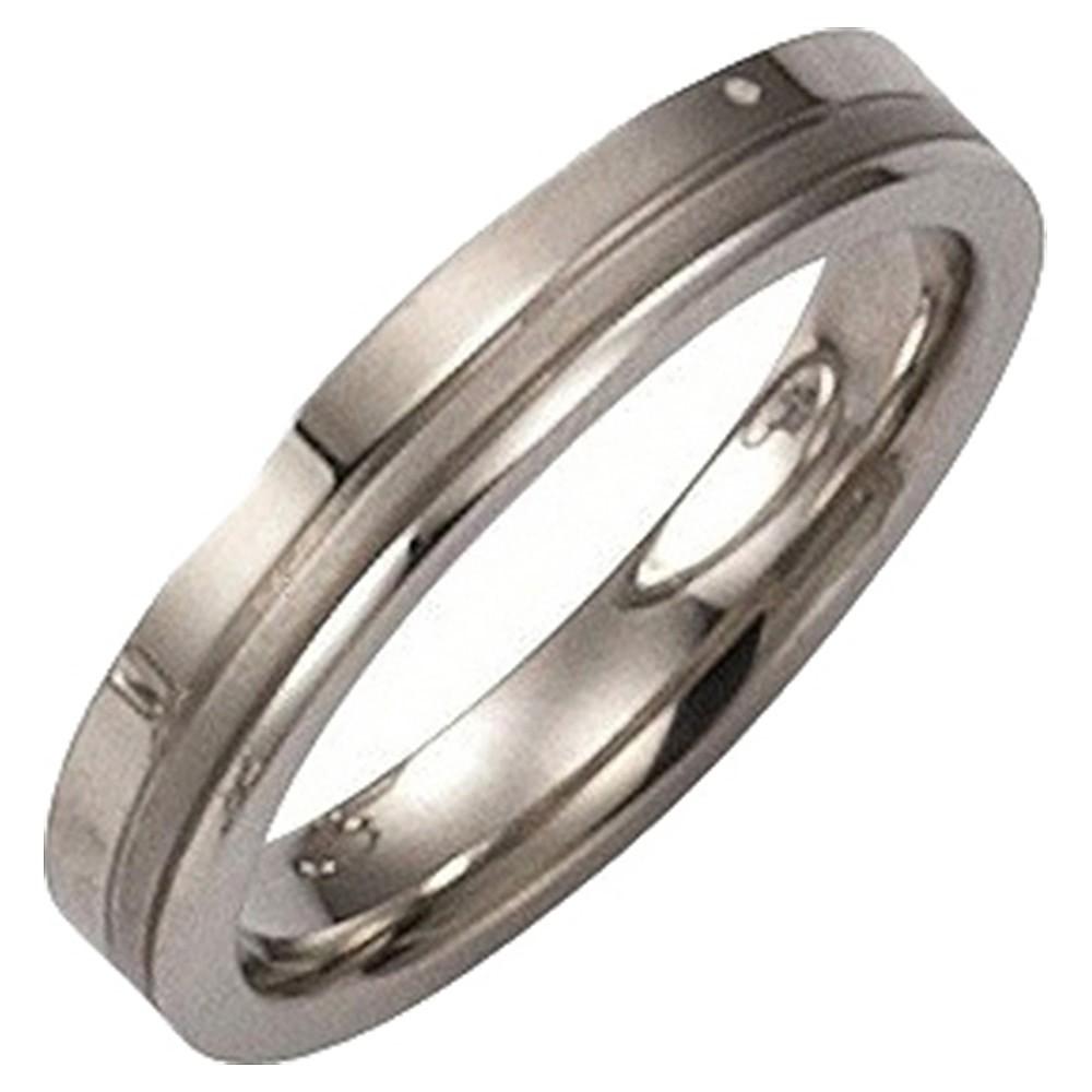 KISMA Schmuck Ring Gr. 54 Edelstahl glänzend und matt KIR0127-008-54