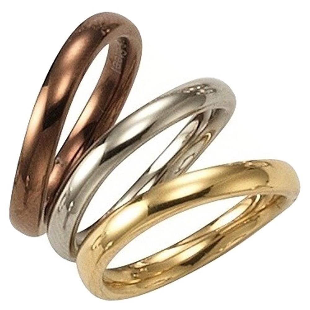 KISMA Schmuck Ring Gr. 54 Edelstahl Farbe Weiss Br. 3mm KIR0127-020-54