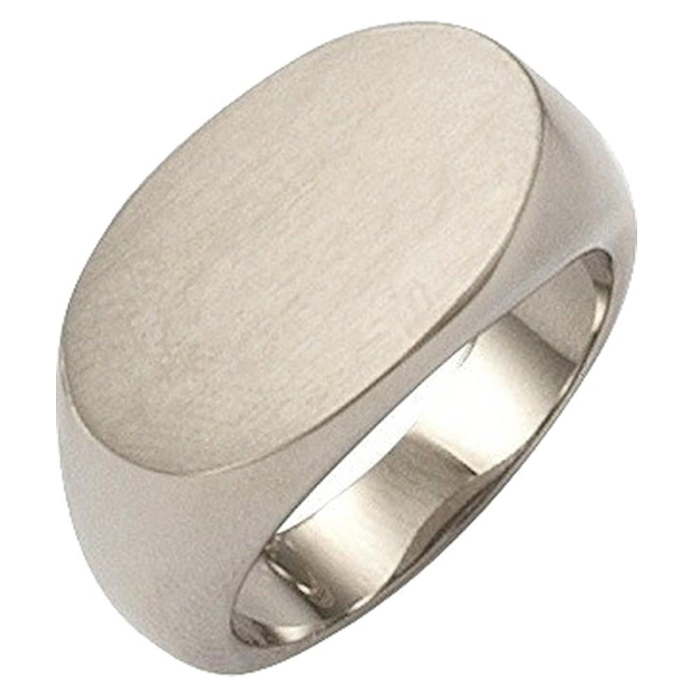 KISMA Schmuck Ring Gr. 54 Edelstahl gl./matt Siegelring KIR0127-024-54