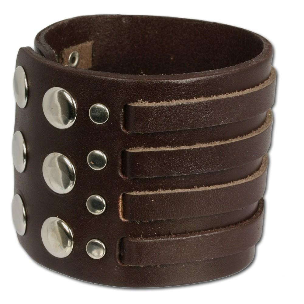 SilberDream Lederarmband braun Herren Leder Armband LA0031B