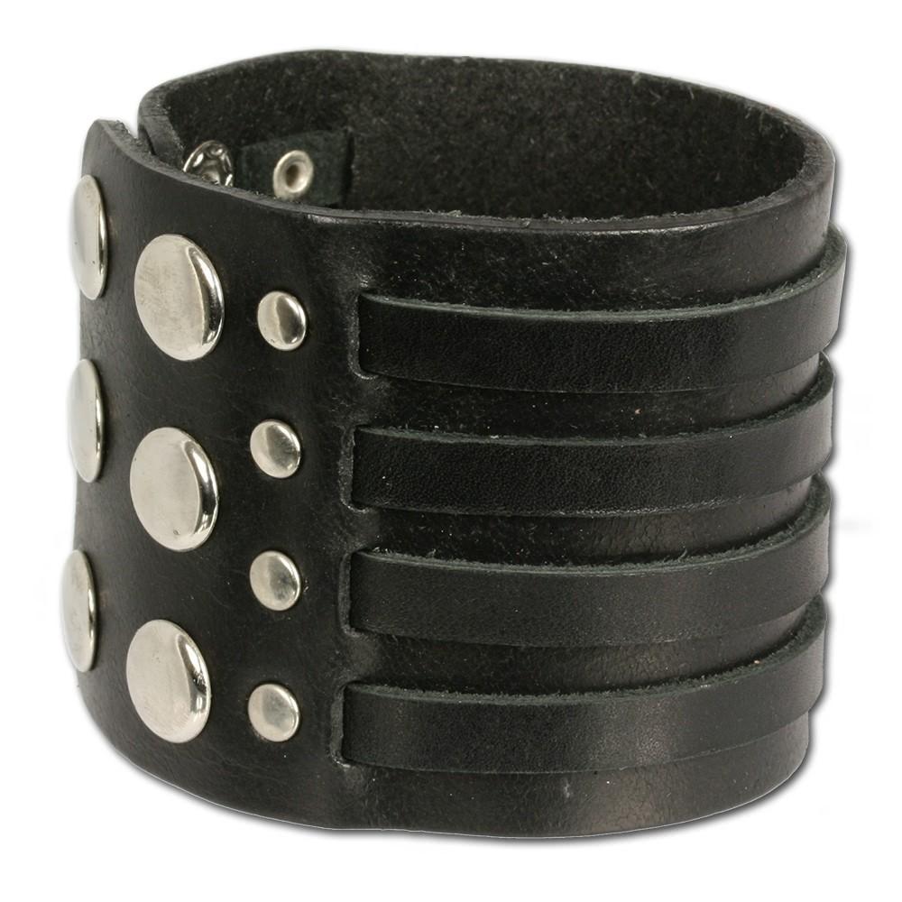 SilberDream Lederarmband schwarz Herren Leder Armband LA0031S