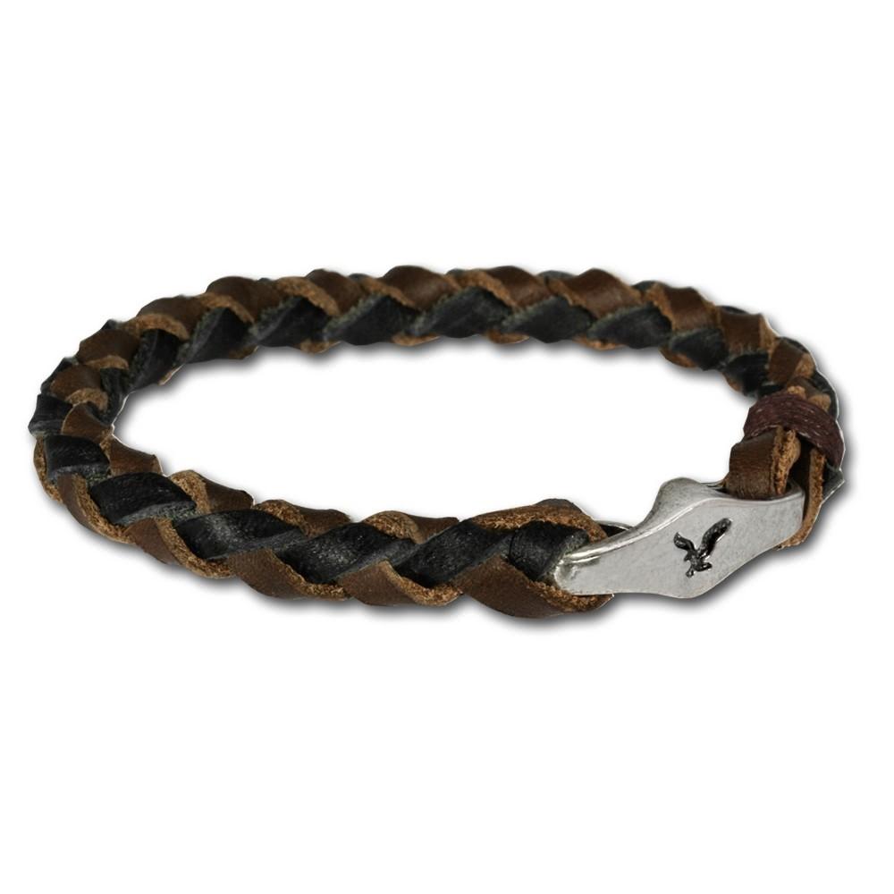 SilberDream Lederarmband braun Dame/Herr Leder Armband LA0050B