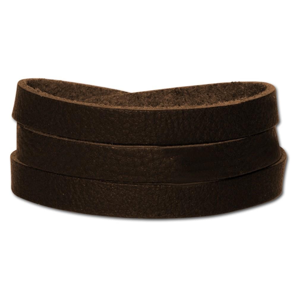 SilberDream Lederarmband braun Herren Leder Armband LA0127B