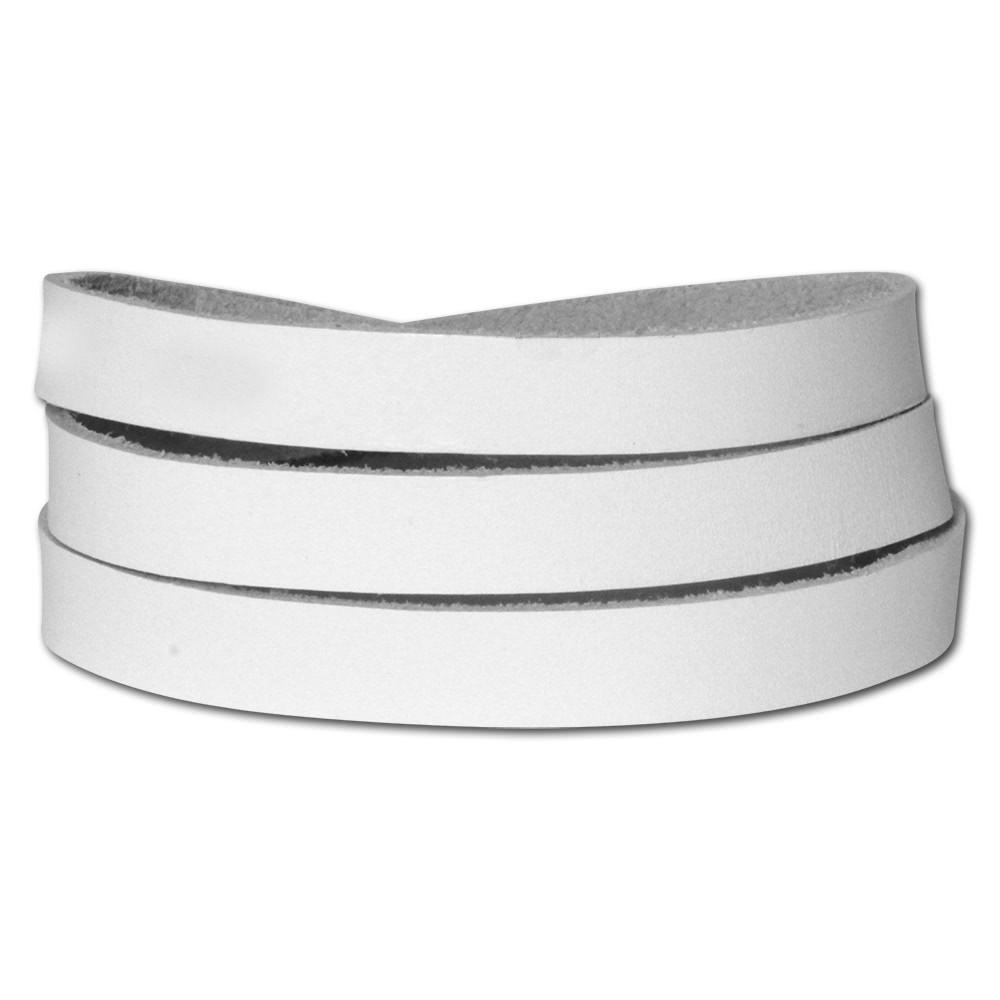 SilberDream Lederarmband weiß Herren Leder Armband LA0127W